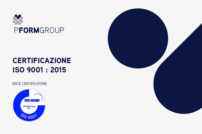 Certificazione ISO 9001 2015 PFormGroup