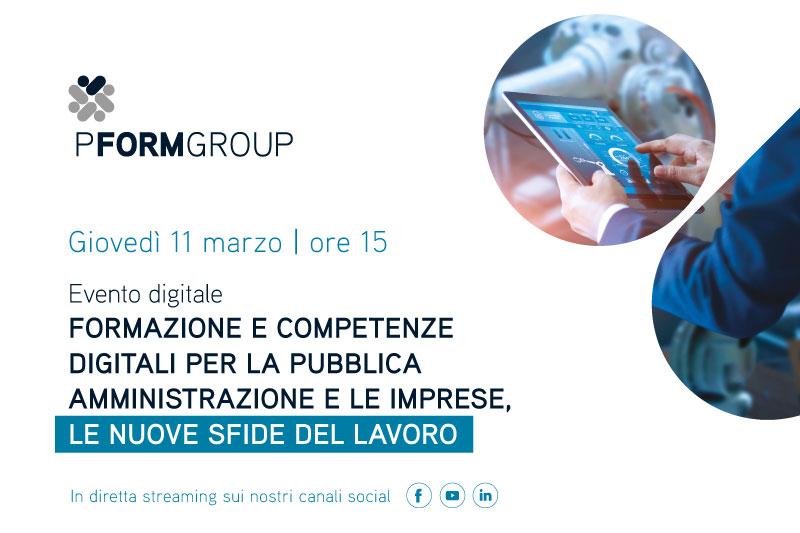 Competenze digitali per PA e imprese, l'11 marzo evento online di PFormGroup
