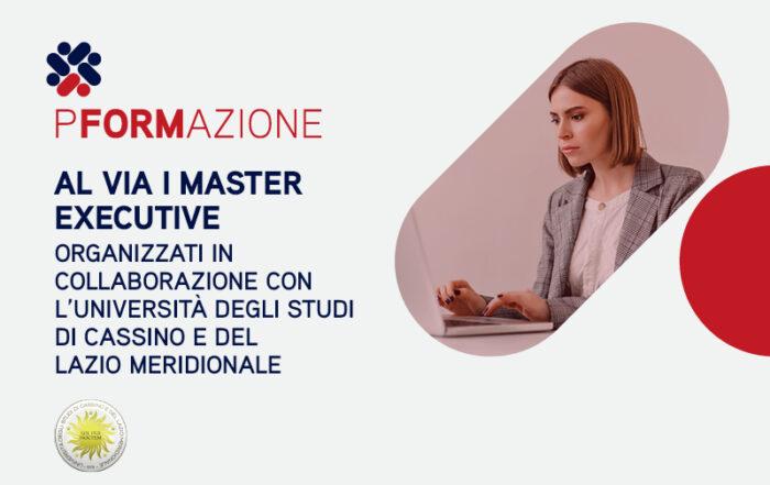 Al via i Master Executive organizzati in collaborazione con l'Università degli Studi di Cassino e del Lazio Meridionale